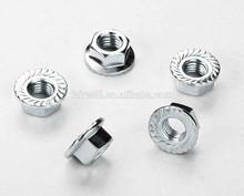 White zinc nut and bolt