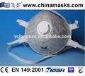 industral de carbón activo mascarilla desechable cara máscara contra el polvo