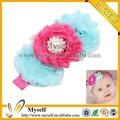 prix bon marché coréen de mode de fleurs en mousseline de soie bandeaux élastiques