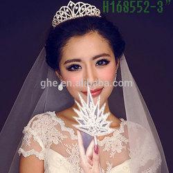 New designs rhinestone royal accessories cheap tall rhinestone crown of thorns
