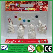 più popolari regalo fai da te per albero di natale appesa decorazione pupazzo di neve santa treno con 6 colore della pittura 1 pennello