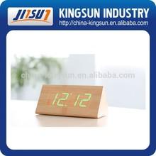 Table wood LED clock