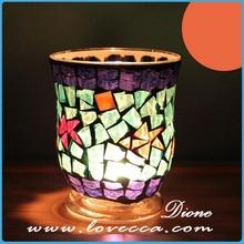 Crystal glass halloween pumpkin light decorations