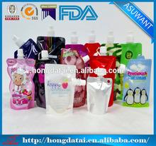 liquid stand up pouch with spout/stan up spout pouch
