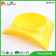 2015Pet Product Supply Dog Cat China Wholesale Food Water Cute Yellow Pet Food Bowl