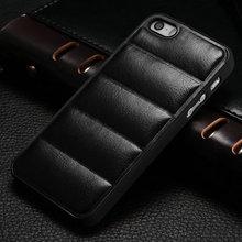 Hard PC back soft PU leather for Iphone 5 5S professional alibaba custom made case