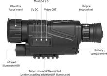 professional infrared night vision binoculars riflescope night vision