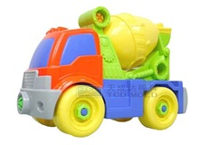 The combined toy, dismantling engineering vehicles,mixer children toys