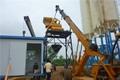 bien utilizado móvil de hormigón de la planta de proceso por lotes con otras máquinas
