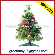Yiwu Zhejiang Supplier Merry Arts Factory 2014 plastic decorative mini artificial christmas tree for car