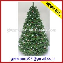 Yiwu Zhejiang proveedor exterior de alto blanco de metal con luz de la navidad de árboles