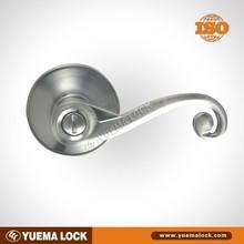 Satin Nickel Tulular Lever Door Lock / bathroom