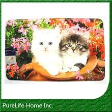 Cats Digital Printed Memory Foam Bath Rug Fleece Carpet