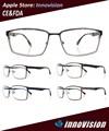 2015 de hombre de moda gafas de diseño de acero inoxidable marco óptico