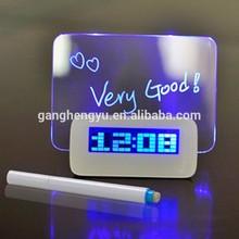 Exquisite mini message board LED screen alarm clock