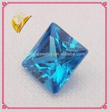 square princess cut high quality aquamarine BT cz gem stone