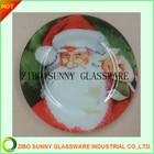 christmas design glass tea tray
