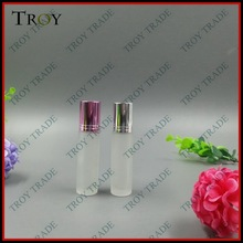 Plain 1/3 oz. Roll-on Refillable Glass Perfume With Black Cap