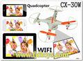 Chine enfants fpv jouets wifi, drone modèle cx30 contrôléechargeur app téléphone avec appareil photo