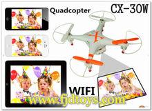 Chine enfants jouets FPV WIFI Drone modèle CX30 avec caméra APP téléphone contrôlée