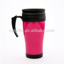 Promotion 22oz plastic mug tumbler,advertising double wall plastic tumbler with handle,cheap double wall 22oz plastic mug