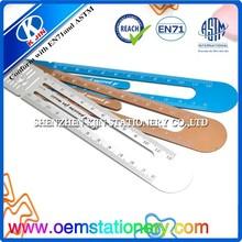 shape plastic ruler/transparent straight scale ruler/metal ruler