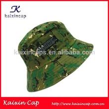 Green Hunting Style Mens Wholesale Custom Design Sun Fishing Bucket Cap