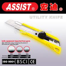 Assist safety pocket knife with SK4 blade 18mm utility knife assist brand twist lock knife