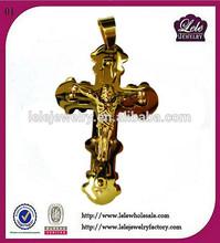 Popular Stainless Steel Jesus Cross Pendants,Christian Crucifix Pendant, Mental Polished Cross