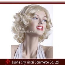 Short curly golden classic retro fluffy Marilyn Monroe wig