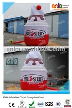 Realistic inflatable promotional products type inflatable soft serve sugar cone/inflatable ice cream cone