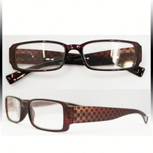 Ultima prezzi all'ingrosso rosso sexy delle donne pieno cerchio telaio eyeware occhiali di plastica