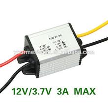 Personnalisécarte 11w 3a dc. 12v à 3.7v abaisseur, régulateur. convertisseur de tension pour la voiture