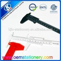 plastic vernier caliper /good plastic ruler/plastic measuring ruler
