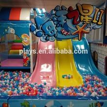 fiberglass 3 panel kids indoor play equipment slides