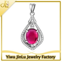 Elegant 925 sterling silver necklace corundum jewelry stone