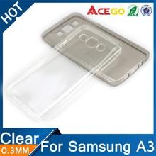 (Acego) 0.3mm Guangzhou transparent soft case for samsung galaxy a3 , tpu for samsung galaxy a3 case