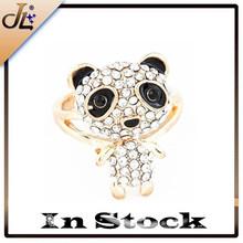 Fashion child crystal cute bear ring