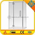 puerta deslizante de ducha& mampara de ducha de vidrio templado sin marco rectangular