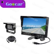 High digital TFT LCD 7 inch Bus / Truck rear view 24V car monitor with IR LED camera