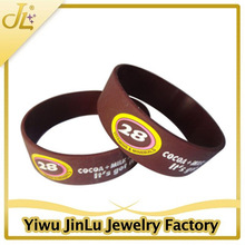 Silicon jewelry brown original cheap silicon wristband