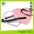 de color rosa en forma de corazón torta de la boda cajas cajas de torta decorativos