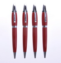 Red gem ,2015 new products logo metal ball pen offce supply pen bulk buy from china
