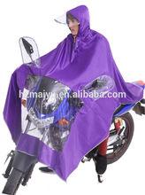 High quality hooded nylon rain poncho for adult