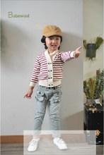 2015 New children clothing set 100% summer teen girl clothing set high quality jeans for children