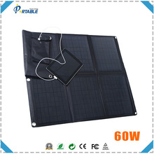 60Watt mono fabric fold up solar panel phone charger/ solar laptop charger