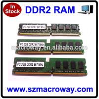 Low density 8bits ram ddr2 533 400 ddr2 sdram