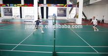 low price safety floor green litchee grain pvc sports flooring indoor badminton court flooring