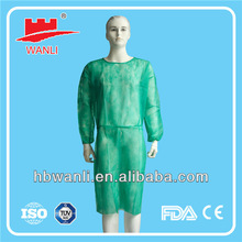 PP Nonwoven Blue Surgical Isolation Gown Disposable Nonwoven gowns