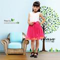 schöne Kind blumenmädchen kleid 2014 billig verkaufen korea stil kinder blumenkleid für hochzeit weiß und rot organza kinder kleid